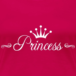 Princess with Crown T-skjorter - Premium T-skjorte for kvinner