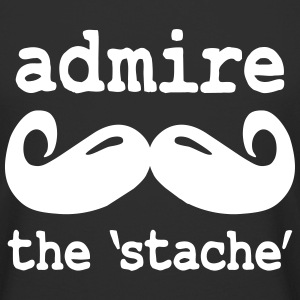 admire the stache Tee shirts - T-shirt long homme