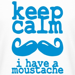 keep calm i have  a moustache Tee shirts - T-shirt long homme