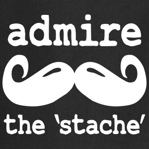 admire the stache Delantales - Delantal de cocina