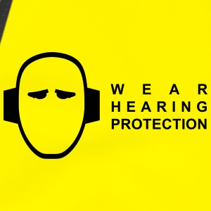 reflective vest - wear hearing protection - Warnweste