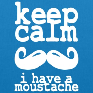keep calm i have  a moustache Bags & Backpacks - EarthPositive Tote Bag
