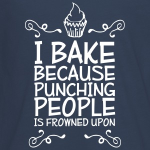 i bake because punching people i Long Sleeve Shirts - Teenagers' Premium Longsleeve Shirt