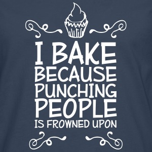 i bake because punching people i Shirts met lange mouwen - Mannen Premium shirt met lange mouwen