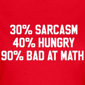 40% sarcasm 40% hungry 90% bad at math T-Shirts - Women's T-Shirt