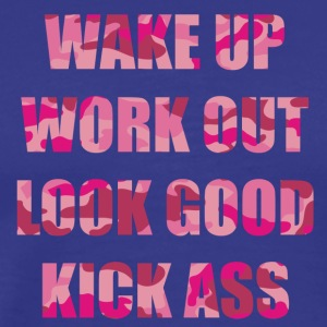 WAKE up and Work out3 - Männer Premium T-Shirt