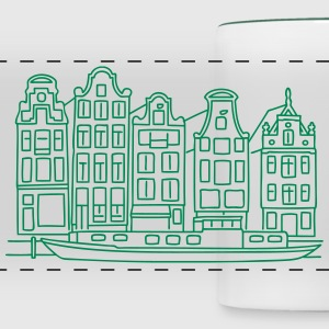 Amsterdam Canal houses Mugs & Drinkware - Panoramic Mug