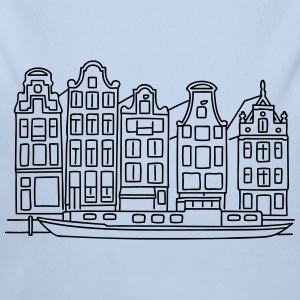 Amsterdam Canal houses Baby Bodysuits - Longlseeve Baby Bodysuit