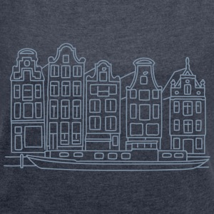 Amsterdam Canal houses T-Shirts - Women's T-shirt with rolled up sleeves
