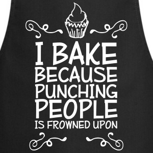 i bake because punching people i  Aprons - Cooking Apron