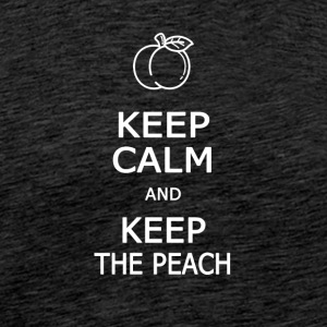 Keep calm and keep the peach - T-shirt Premium Homme