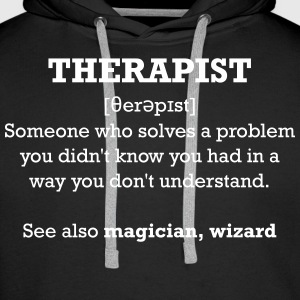 Therapist - wizard Sweat-shirts - Sweat-shirt à capuche Premium pour hommes
