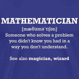 Mathematician - wizard T-Shirts - Men's Premium T-Shirt