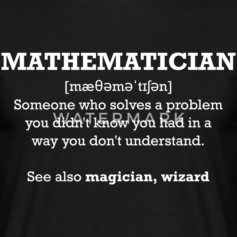 Mathematician - wizard T-Shirts - Men's T-Shirt