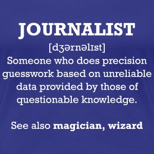 Journalist - wizard T-Shirts - Frauen Premium T-Shirt