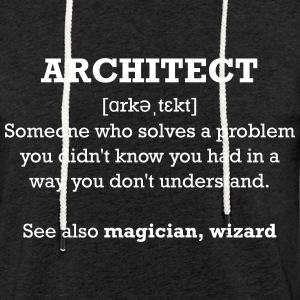 Architect - wizard Sweat-shirts - Sweat-shirt à capuche léger unisexe