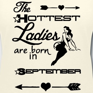 Hottest Lady September T-Shirts - Women's V-Neck T-Shirt