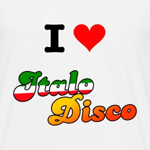 I love Italo Disco white (Men) - T-skjorte for menn