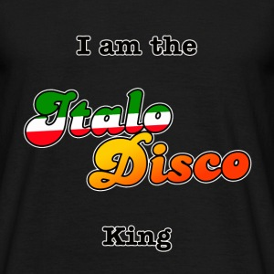 I am the Italo Disco King black (Men) - T-skjorte for menn