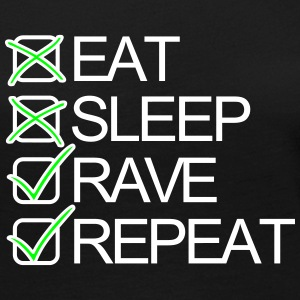 Eat Sleep Rave Repeat Shuffel Techno Festivals Langarmshirts - Frauen Premium Langarmshirt