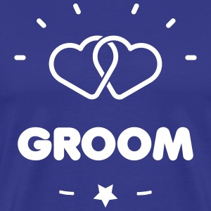 GROOM + HEART T-shirts - Mannen Premium T-shirt