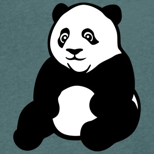 Panda kawaii sitting T-Shirts - Men's V-Neck T-Shirt