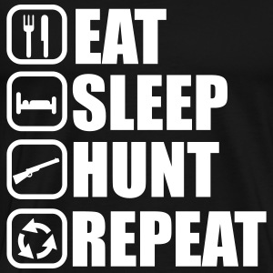 Eat,sleep,hunt,repeat, Jäger t-shirt  - Männer Premium T-Shirt