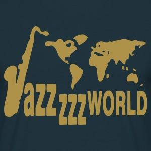 Navy Jazz world T-shirts - Mannen T-shirt