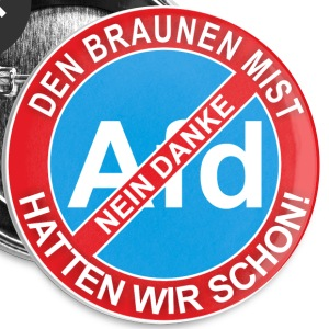 Button - AFD-Nein Danke - Buttons groß 56 mm