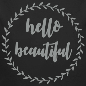 Hello beautiful Baby body - Baby bio-rompertje met lange mouwen