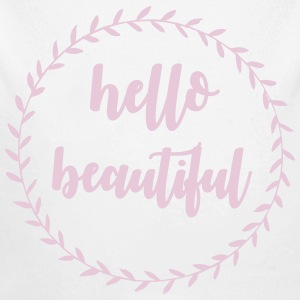 Hello beautiful Babybody - Økologisk langermet baby-body