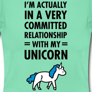 Committed Relationship With My Unicorn T-Shirts - Women's T-Shirt