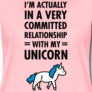 Committed Relationship With My Unicorn T-Shirts - Frauen Premium T-Shirt