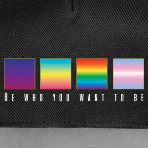 Be who you want to be Logo Casquettes et bonnets - Casquette Snapback contrastée