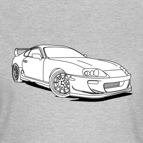 Cool Car White T-shirts - T-shirt dam