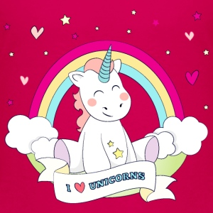 Cute Unicorn Skjorter - Premium T-skjorte for barn
