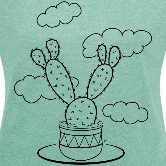 """T-shirt Femme """"Un cactus dans les nuages"""""""