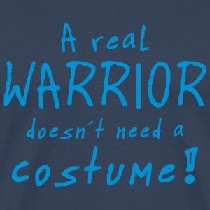 a real warrior costume T-Shirts - Männer Premium T-Shirt