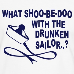 White/navy Drunken Sailor Men's Tees - Men's Ringer Shirt