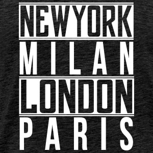 newyork milan london paris - Männer Premium T-Shirt