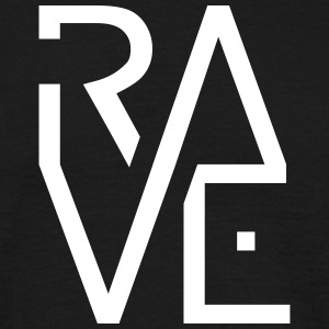 Rave Minimal Text Electronic Music Techno Schrift T-Shirts - Männer T-Shirt