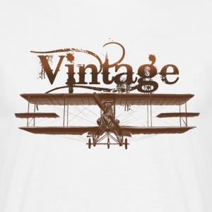 Vintage airplane T-shirts - Mannen T-shirt