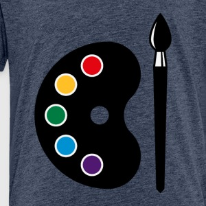 Colour Palette With Brush (Art / Artist / Painter) Shirts - Kids' Premium T-Shirt