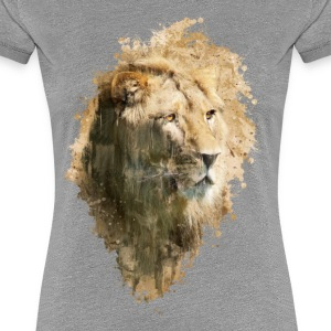 Watercolor Lion Frauen Premium T-Shirt - Frauen Premium T-Shirt