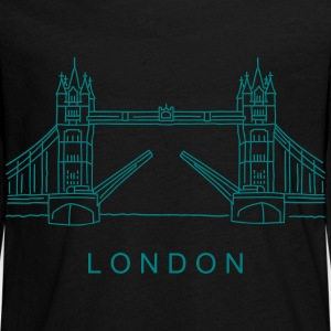 London Tower Bridge Long Sleeve Shirts - Teenagers' Premium Longsleeve Shirt