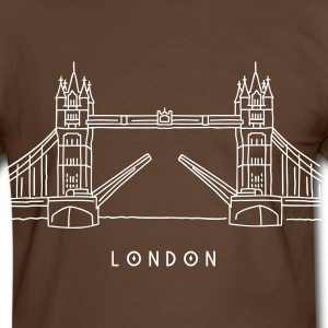 London Tower Bridge T-Shirts - Men's Ringer Shirt