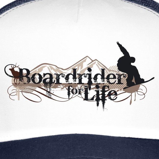 Snowboard Trucker Cap Boardrider for life