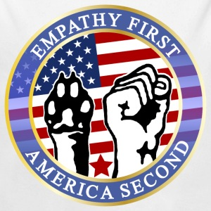 EMPATHY FIRST AMERICA SECOND Baby Bodys - Baby Langarm-Body