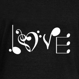 music love Hoodies & Sweatshirts - Women's Boat Neck Long Sleeve Top