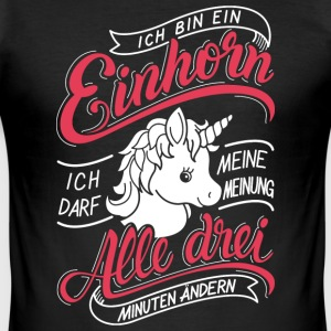 Einhorn 3 min T-shirts - Herre Slim Fit T-Shirt